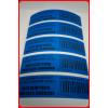 Non Residue Blaue Sicherheits Aufkleber  Tamper Evident 80x20mm 150St