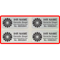 Hologramm Aufkleber mit Ihrem Logo in Schwarz 32x15mm