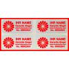 Hologramm Aufkleber mit Ihrem Logo in Rot 32x15mm