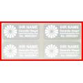 Hologramm Aufkleber mit Ihrem Logo in Weiß 32x15mm