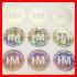 Hologramm Aufkleber mit Ihrem Logo in Weiß Rund 22mm